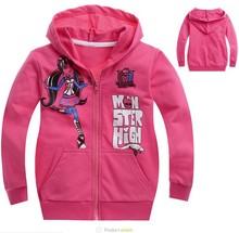 new 2014,autumn,winter clothing,monster high fashion girls clothes,baby,children hoodies,children girl outerwear(China (Mainland))