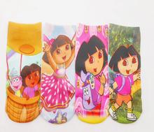 "40styles choosed 12pairs/lot length18cm,7"" kitty/mickie Cute Cartoon Frozen girls boys Baby children's print ankle sock/socks(China (Mainland))"