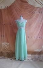 stock45 Free shipping A-line sweetheart elegant off-shoulder cheap bridesmaid dresses 2014(China (Mainland))