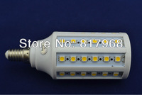 Corn Bulb E14 12W 5050 SMD 60 LED Light Home Bedroom Lamp 200-240V/AC 360 degree High Power Cool| Warm White Free Shipping