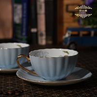 china  English-style ceramic coffee  disc belt set bone china  lovers mug tea   cup