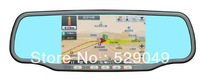free shipping. 5 inch capacitor Touch Screen car Rearview mirror GPS+720P HD DVR+TF card+wireless reversing camera