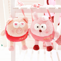 Free shipping Cartoon 12 zodiac animal plush doll onrabbit doll child coin purse small messenger bag wedding gift