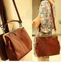 2013 New Women's Brown Europe Retro Vintage Shoulder Purse Handbag fashion bag Totes100-3