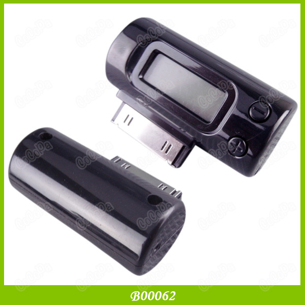 FM Transmitter Car Charger Adapter With Remote For iPhone 4S 4G iPod Touch 100PCS/LOT Free Shipping(China (Mainland))