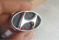 Auto Hyundai SantaFe steering wheel pure metal stickers car logo emblem badge