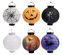 Free shipping, halloween decoration supplies pumpkin portable paper lantern without battery, 10 pcs 1 lot, Drop shipping, PW0015