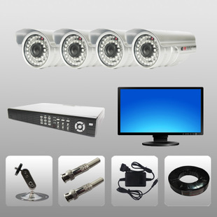 free shipping Surveillance 4pcs Portfolio 24IR 420TVL Sony chip night vision Color IR waterproof Security camera CCTV Camera(China (Mainland))