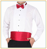 Hot Sale Men Long Sleeve White Shirts Fashion Wedding Dress Shirt French Cufflink Shirt