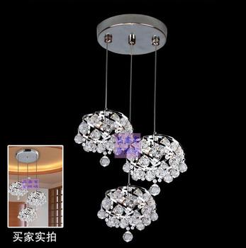 Modern spiral   restaurant  crystal   bedroom   living room  ball glass pendant lamp free shipping