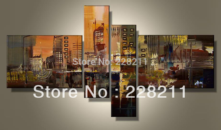 EMS Free shipping home wall art group paintings canvas(China (Mainland))