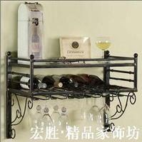 Fashion iron wine rack iron wall wine rack wine rack wine rack wine rack shelf