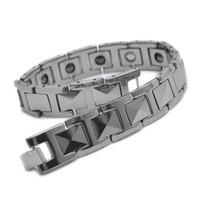 "Tungsten Magnetic Hematite Mens Bracelet 8.7"" B666"