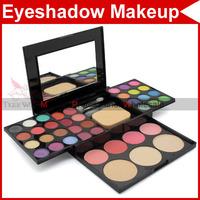 24 color eyeshadow eye shadow Camouflage Cosmetic Palette 8 lipstick 4 blusher powder puff brush Pen Tool Make Up kit 3772