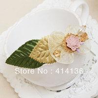 The Latest Hotsale  Fairlady 18K Gold  Flower Leaf Hair Clips