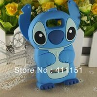 Free Shipping New Stitch 3D Silicone Soft Cover Back Case FOR Nokia Asha 305/306,mobile phone case