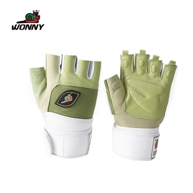 Snail women's gym gloves semi-finger quality leather gloves sports gloves wrist support hfb2-001(China (Mainland))