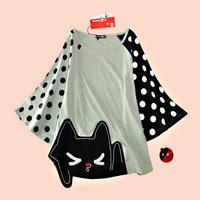 Juniors clothing summer loose t-shirt batwing shirt women's t-shirt short-sleeve shirt top