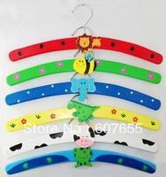 min order $15  color random  children wooden hangers   5pcs/lot free shipping