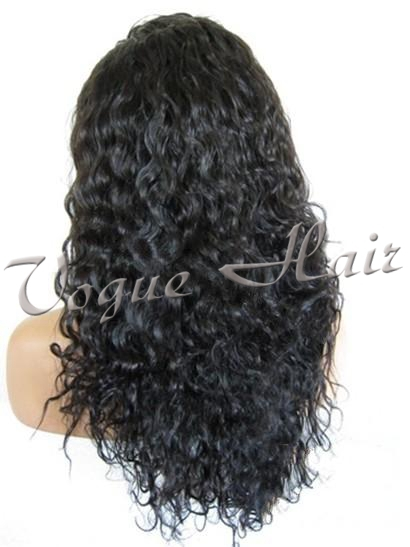 "1# 22"" indian water wave 100% virgin human hair 130%-150% density glueless full lace wig hot sell(China (Mainland))"
