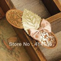 The Latest Hotsale  Fairlady  18K Gold Leaf Pink Bow Hair Clips