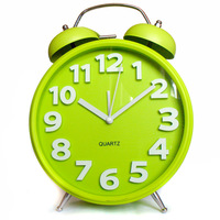 Brief alarm clock metal bell alarm clock Large alarm clock wall clock 8
