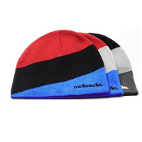 Mckenzie color block decoration line cap autumn and winter thermal casual knitted skiing hat