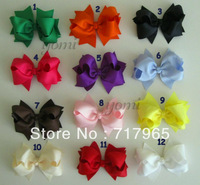 4.5 Inch Grosgrain Ribbon Bow Toddler Girl Hair Bow With Clip For Baby Kids Hair Accessories