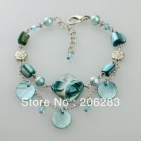 Mix $10 Bracelet female pearl shell tassel bohemia multi-layer bracelt