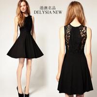 Hot Sale 2013 Trendy Ever Pretty Dresses Fashionable Women's elegant lace vintage slim waist one-piece dress Free shipping