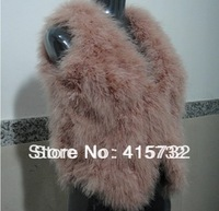 Free Shipping 2013 New Winter Real Ostrich Hair Fur Coat Outerwear Short Design Fashion Sleeveless Vest Fur Jacket For Women