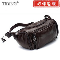 Cattle genuine leather waist pack casual prothorax messenger bag cowhide male women's travel one shoulder bag