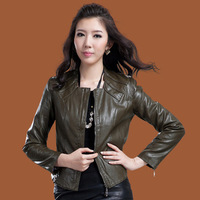 Free Shipping new arrival autumn real leather jacket women short design genuine sheepskin jackets woman leather outerwear coat