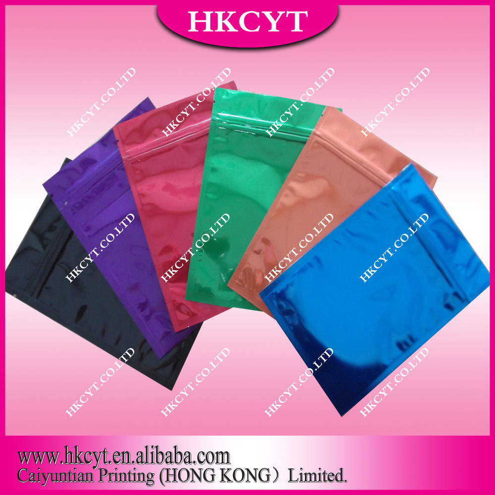 Plain Color PET/VMPET/PE Best Materials For Ziplock Herbal Incense Bags(Hong Kong)