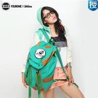 Fourone2013mm women's backpack male backpack travel bag school bag