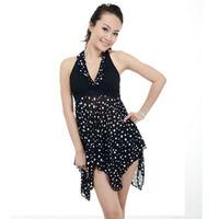Large plus size one-piece dress fashion women's hot spring swimsuit large female swimwear