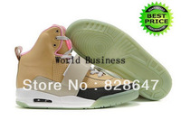 EMS Free shippingFast Shipping Wholesale Famous Player Yeezy I Men's Sports Basketball Shoes (stone brown / black / pink)