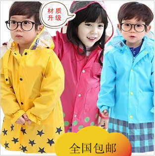 AIMI Fashion child smally raincoat baby student poncho school bag 3H04C(China (Mainland))