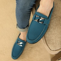 Spring fashion shoes foot wrapping gommini loafers male genuine leather nubuck leather shoes lazy