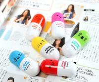 New Hot Japan and South Korea Stationery Bird Ballpoint Pen Pills Pen Retractable Bllpoint Pen  Free Shipping/Wholesale