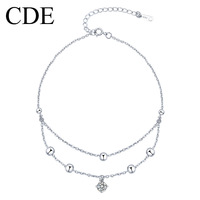 Cde kalyptolith anklets 925 pure silver transhipped female fashion bell birthday gift accessories