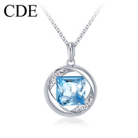 Cde austria crystal necklace female fashion short design chain accessories pendant