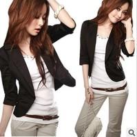 Free shipping  women's large size outerwear blazer ol fashion elegant slim  tops coat women  T209