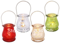 4.7 Inch Tall Glass Mercury Lantern Candle holder  USD36.00for 8PC / Each USD4.50