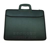 A4 portable document bags pockmark multi-layer handbag kits conference bag file bag
