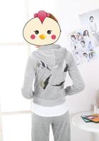 2013 velvet set female sweatshirt set embroidery casual set sports set