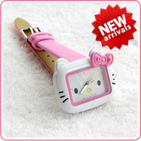 Girls bow hellokitty girl child watch powder gift