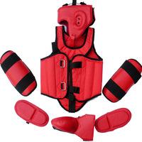 Professional five pieces set sanda protective gear full set flanchard head protection