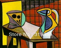 Oil Painting Reproduction on Linen Canvas ,crane-and-pitcher-1945  BY Picasso,Museam Quality,Fast Free Shiping, handmade