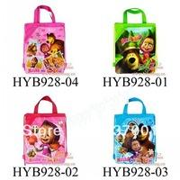 New Arrival -4Pcs Masha & the Bear Children Cartoon Drawstring Backpack School Bag,Mixed 4 Designs,Kids Birthday Party Favor